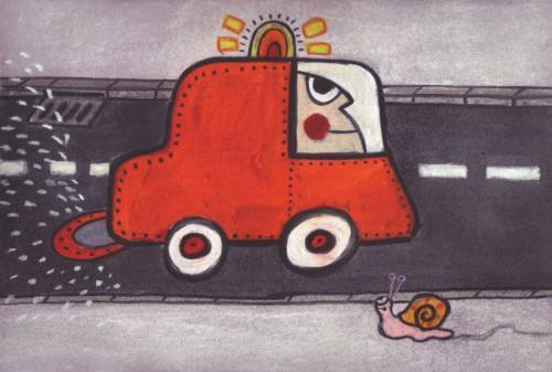 Escargot et voiture